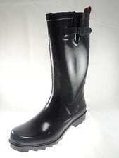 Capelli NewYork Womens Rain Boots Black and Red Inside Size 8