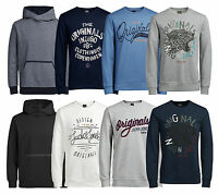 JACK & JONES Men's Overhead Hooded Hoodies & Crew Neck Sweatshirts Tops Jumper