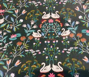 Oilcloth fabric, PVC Coated, Swan Lake Design, Per Meter