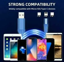 3in1 Luminous magnetic charging cable