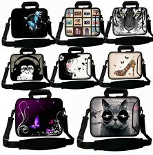 "10"" 10.1"" Netbook Laptop Case Bag Cover Pouch Skin With Handle & Shoulder Strap"