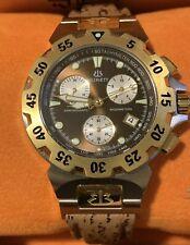Burett Swiss Mens Chronograph Neo Abyss B4602 Watch Shark Skin Strap Box&Papers!