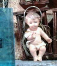 Bambino Gesù resina culla 10 cm MINIATURA PRESEPE shereped S.GREGORIO jesus crib