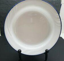"Corelle ""Celestial Blue"" Rimmed 8.5"" Soup/Salad Bowl(s) Embossed Swirl"