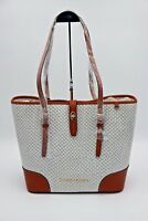 NWT Dooney & Bourke Cordova Dover White Fog Embossed Leather Shoulder Tote Bag