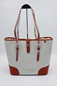 Dooney & Bourke Cordova Dover White Fog Embossed Leather Shoulder Tote Bag $328