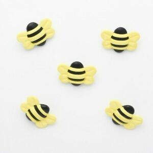 Bumble Bees Button 25mm x 20mm Plastic Shank Novelty Buttons