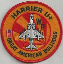 USMC VMA-223 PATCH   'GREAT AMERICAN BULLDOGS'  HARRIER II+       FULL COLOR