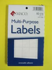 Maco, All Purpose Label, MS-1216, Self Sticking Adhesive, Rectangle, White, 3/4""