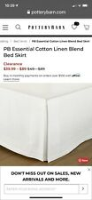 Pb Essential Bed Skirt, King-14, Classic Ivory