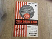 SUNDERLAND V LUTON TOWN 1955/56