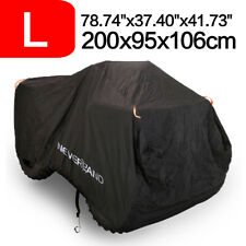 L Waterproof ATV Cover Universal Fits Polaris Honda Yamaha Can-Am Suzuki + Bag