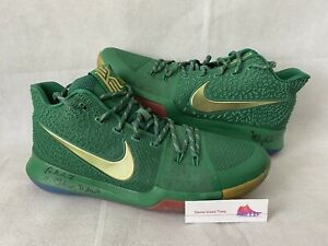 Kyrie Irving Game Used PE (Player Exclusive) Nike Kyrie 3 Sneakers- MeiGray PLOA