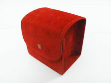 CARTIER SUEDE TRAVEL WATCH CASE POUCH RED - GREAT CONDITION!