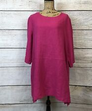NWT BRYN WALKER Bre Tunic Lagenlook Shirt Top Blouse Pink Size Large -BIN F