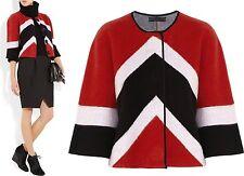 $1,595 Burberry Prorsum XL Chevron Stripe Wool Cashmere Jacket Coat Women Lady