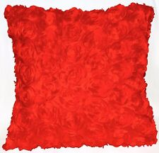 Sa211a Red 3D Rose Flower Taffeta Satin Cushion Cover/Pillow Case*Custom Size*