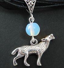 Moonstone Werewolf Necklace Pendant Gothic Halloween