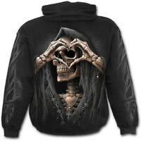 Spiral Direct DARK LOVE - Hoodie Death/Heart/Reaper/Love/Metal/Biker/Hood/Hoody