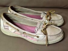 SPERRY TOP SIDER Womens TAN Leather Flat Boat Shoes 7,5 (B1)