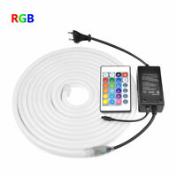 1-10M 2835 RGB LED Neon Tube Strip Light 220V Waterproof Flexible 120LEDs/m DIY