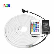 1-10M LED Strip Neon Lights 2835 RGB Waterproof Flexible DIY Tube 120LEDs/m 220V