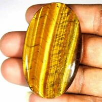 89.90Cts.100 % Natural Golden Tiger's Eye Oval Cabochon Loose Gemstone