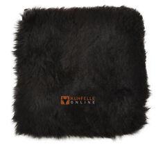 peau de mouton siège édition Coussin chaise brun foncé noir court laineux 37 x
