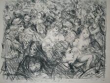 Lucien Philippe MORETTI-Lithographie signée-La vie de boheme : Le guitariste