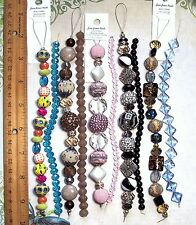 BEAD LOT 5 Jesse James Strands & 5 Coordinating Crystal Strands Jewelry Making A