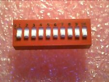 Dip Switch : 10 position 78B10S : 5pcs per lot