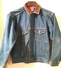 Vtg Men's Marlboro Country Store Distressed Trashed Thrahed Blue Denim Jacket M