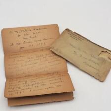 Antique Letter Toast Response Duquesne Pennsylvania 1891