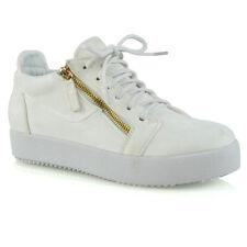 Womens Casual Sneakers Flat Pumps SlipOn Ladies Comfy Platform Trainer Shoe Size