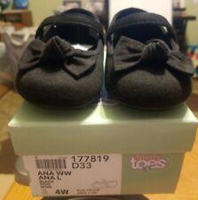 Teeny Toes ANA WW Infant Girls Black Mary Janes Dress Shoes Size (4W)
