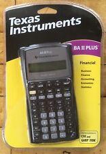 Texas Instruments Calculator BA II Plus New With Book CFA GARP FRM Financial