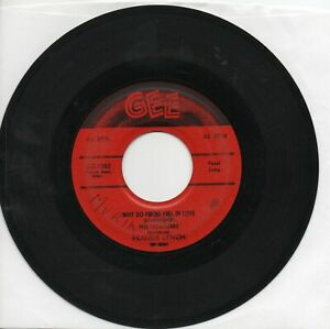 Frankie Lymon And The Teenagers Why Do Fools Fall In Love  On  Gee Original  45