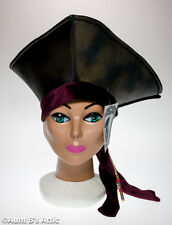 Pirate Hat Foam & Fabric Open Crown Tricorn Costume Hat With Beaded Trendills