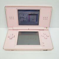 Coral Pink Nintendo DS Lite Handheld Game System Broken Hinge Read Below