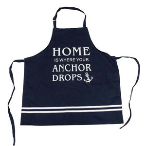 Home is where your Anchor drops Kitchen Cooking Apron Nautical Maritime
