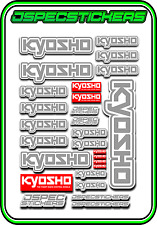 KYOSHO RC RACING STICKER SHEET A5 MINI Z BUGGY CAR NITRO ELEC DRONE GREY WHITE