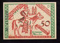 GERMANY (Weimar Republic) 50 Pfennig Notgeld, 1921, UNC World Currency