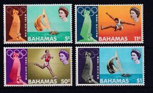BAHAMAS 1968 Mexico City Olympics Set SG 319/322 MNH