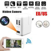 HD 1080P Hidden Camera USB Wall Charger Adapter Recorder Security Cam US/EU Plug