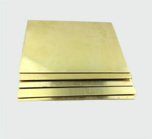 2MM thick. Brass square plate/sheet Laser cut quality. Various sizes