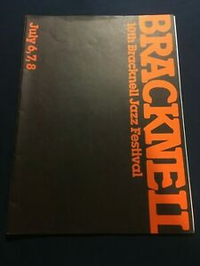 The 10th Bracknell Jazz Festival Programme 1984 with insert