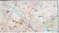 Torino Norte 1916 picc. cartina città orig. San Donato Aurora Stazione progetto