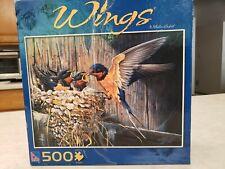 "JIgsaw Puzzles Sure Lox 500 Pieces ""Wings"" Barn Swallow # 6431 NIB"