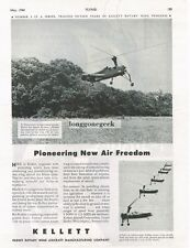 1944 Kellett Rotary Wing Aircraft Helicopter Vintage Print Ad Upper Darby PA