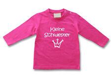 Baby LA-Shirt Kleine Schwester - Wahl: MOTIV, WUNSCHNAME, Größe * Fuchsia * NEU
